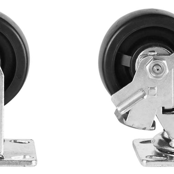 MODEL 495 4IN CASTER SET WITH BRAKES